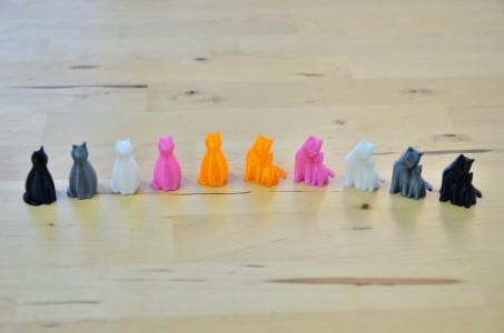 にゃんこ 猫 3Dプリント (5色プリント)